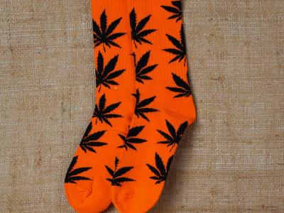Socks Orange-Black